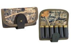 Hunter rifle ammo ammunition bandoliers with cartridges. Hunter rifle ammo ammunition belts & bandoliers Stock Image