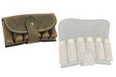 Hunter rifle ammo ammunition belts & bandoliers.  Stock Photos