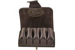 Hunter rifle ammo ammunition belts & bandoliers.  Royalty Free Stock Photo