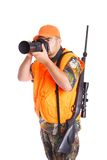 Hunter with Rifle and Camera Royalty Free Stock Photo