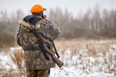 Hunter with rifle Royalty Free Stock Photos