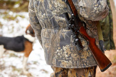 Hunter with rifle Stock Photography