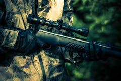 Hunter Rifle Closeup Stockfotos