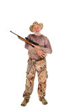 Hunter with rifle Royalty Free Stock Photo