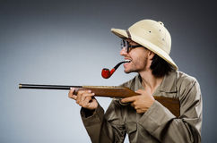 Hunter with rifle Royalty Free Stock Image