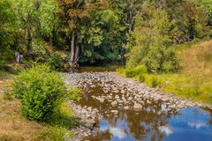 Hunter River, in de Hogere Jager, NSW, Australië stock foto's