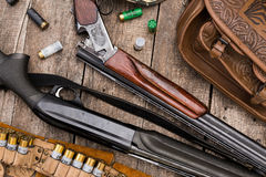 Hunter's ammunition Stock Photography