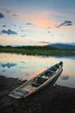 Hunter's boat 2. Samarga river.Russia. Far-East. Hunter's boat. Another point Stock Image