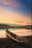 Hunter's boat. Samarga river.Russia. Far-East. Hunter's boat Royalty Free Stock Photos