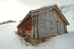 A hunter's cabin. In the Swiss Alps Stock Photos