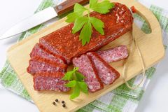 Hunter's salami Royalty Free Stock Photos
