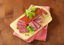 Hunter's salami Stock Photos
