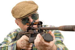 Hunter, shooter sniper Stock Photo