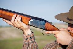 Hunter shooting Royalty Free Stock Image