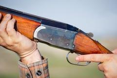 Hunter shooting Royalty Free Stock Photo