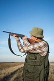 Hunter With Shotgun Royalty Free Stock Photography