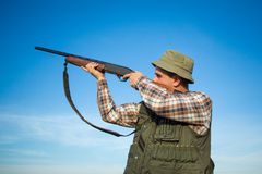 Hunter With Shotgun Stock Images