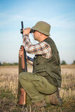 Hunter With Shotgun Stock Photo