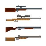 Hunter shotgun set. Vector Royalty Free Stock Photography