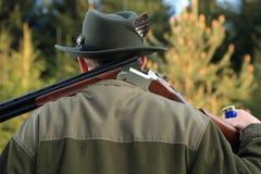 Hunter shouldering his shot gun Stock Images