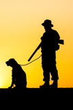 Hunter  silhouette Stock Photography