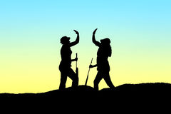 Hunter silhouette Stock Photo