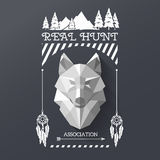 Hunter socirty wolf Royalty Free Stock Photography