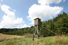 Hunter stand. For hunters in nature Royalty Free Stock Images