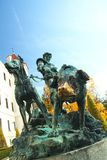 Hunter metal statue at Konopiste Royalty Free Stock Image