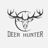 Hunter vector design template Stock Photography