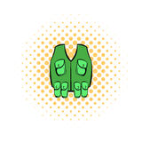 Hunter vest icon, comics style Stock Photos