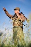 Hunter wild duck hunting Stock Photography