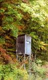 Hunterplace im Wald Stockfotografie