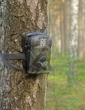 Hunters forest camera Stock Image