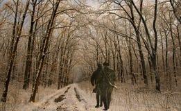 Hunters stock photo