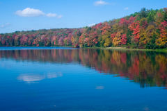 Hunters lake,. Endless mountains of pa. hunters lake stock image