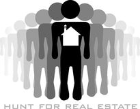 Hunters for real estate Royalty Free Stock Photo