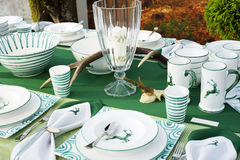Hunters table setting Stock Photo