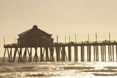 Huntigton beach pier 2 of 4. Huntington beach pier at sunset Stock Image