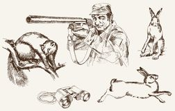 Hunting stock illustration