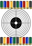 Hunting ammunition and targets Royalty Free Stock Photography