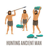 Hunting ancient men Stock Image