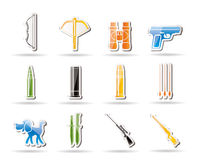 Hunting and arms Icons Royalty Free Stock Photos