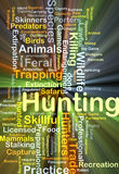 Hunting background concept glowing Royalty Free Stock Photo