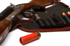 Hunting belt and the rifle Stock Photography