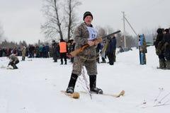 Hunting Biathlon Stock Image
