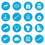 Hunting black icon blue Royalty Free Stock Photography
