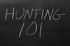 Hunting 101 On A Blackboard Stock Photography