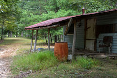 Hunting camp. A hunting camp in the woods of West Virginia, fallen into disrepair with no visitors for a long time Royalty Free Stock Photography