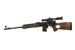 The hunting carbine. Russian hunting carbine of calibre of 5,56 mm (223rem) made on the basis of Kalashnikov's automatic device Stock Photo